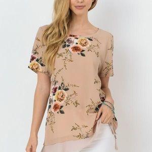 Josifl Mauve Blush Floral Top